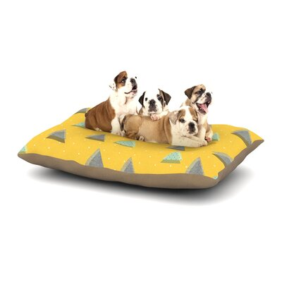 Strawberringo Triangles Geometric Dog Pillow with Fleece Cozy Top Size: Small (40 W x 30 D x 8 H)