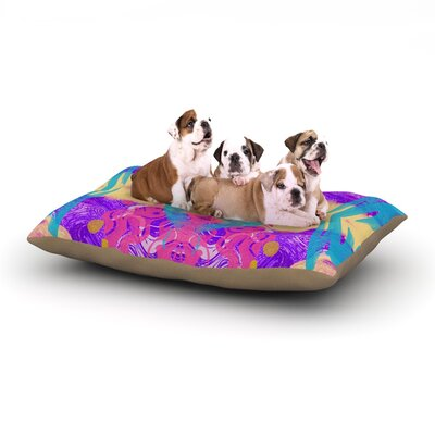 Vasare Nar 'Glitch Kaleidoscope' Dog Pillow with Fleece Cozy Top Size: Small (40