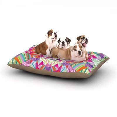 Vasare Nar Carrousel Geometric Dog Pillow with Fleece Cozy Top Size: Large (50 W x 40 D x 8 H)