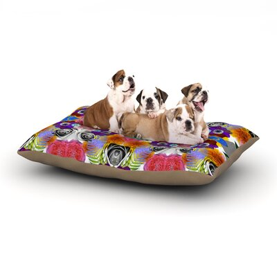 Vasare Nar Tropical Flowers Dog Pillow with Fleece Cozy Top Size: Small (40 W x 30 D x 8 H)