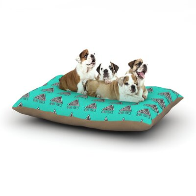 Vasare Nar Good Vibes Green Dog Pillow with Fleece Cozy Top Size: Small (40 W x 30 D x 8 H)