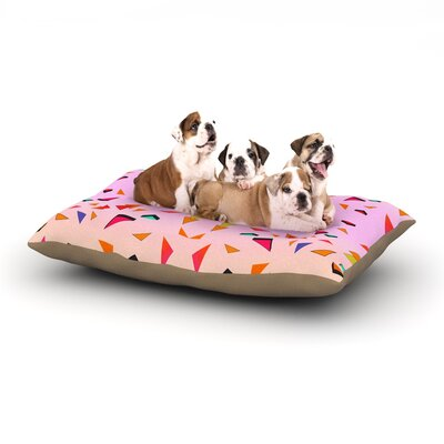 Vasare Nar Candy Land Tropical Geometric Dog Pillow with Fleece Cozy Top Size: Small (40 W x 30 D x 8 H)
