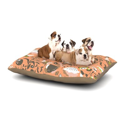Very Sarie Hope for the Flowers I Dog Pillow with Fleece Cozy Top Size: Small (40 W x 30 D x 8 H)