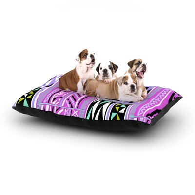 Vikki Salmela American Blanket II Dog Pillow with Fleece Cozy Top Size: Small (40 W x 30 D x 8 H)