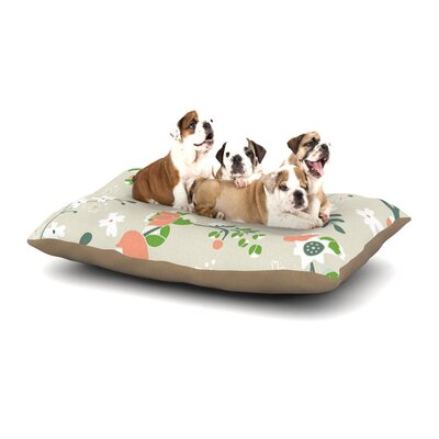 Very Sarie Early Waking Floral Dog Pillow with Fleece Cozy Top Size: Small (40 W x 30 D x 8 H)