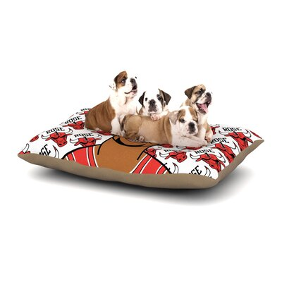 Will Wild Derrick Rose Basketball Dog Pillow with Fleece Cozy Top Size: Small (40 W x 30 D x 8 H)