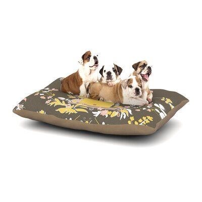 Very Sarie Hope for the Flowers II Dog Pillow with Fleece Cozy Top Size: Small (40 W x 30 D x 8 H)