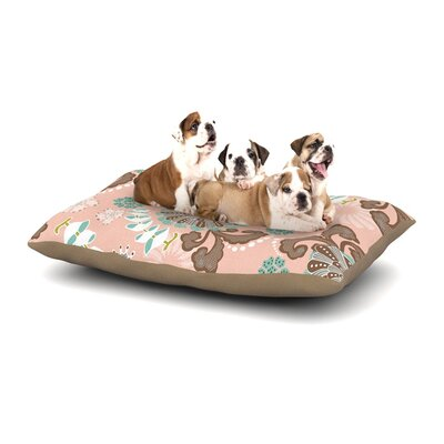 Very Sarie Sea Carnival Dog Pillow with Fleece Cozy Top Size: Large (50 W x 40 D x 8 H)