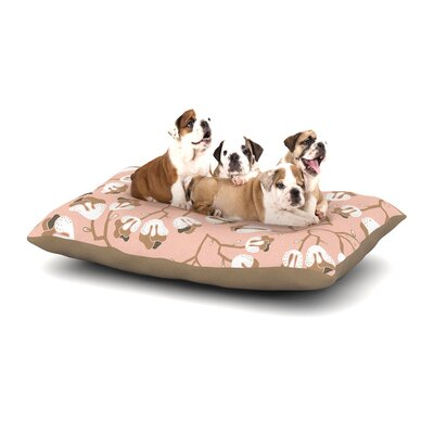 Very Sarie Hope for the Flowers III Dog Pillow with Fleece Cozy Top Size: Large (50 W x 40 D x 8 H)