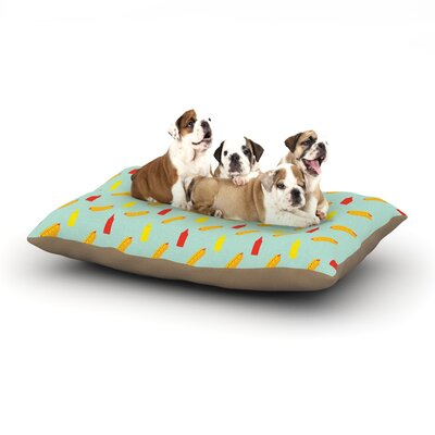 Will Wild Hot Dog II Food Dog Pillow with Fleece Cozy Top Size: Small (40 W x 30 D x 8 H)