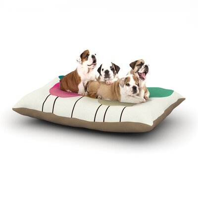 Bri Buckley Celebration Circles Dog Pillow with Fleece Cozy Top Size: Small (40 W x 30 D x 8 H)