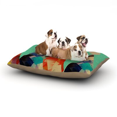 Bri Buckley Rainbow Peaks Triangles Dog Pillow with Fleece Cozy Top Size: Large (50 W x 40 D x 8 H)