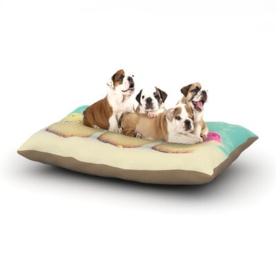 Beth Engel Life is as Sweet as Cupcakes Dog Pillow with Fleece Cozy Top Size: Large (50 W x 40 D x 8 H)