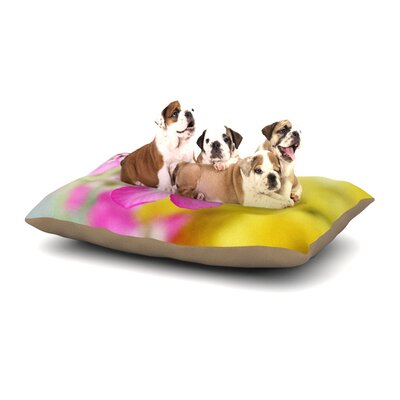 Beth Engel Lucky One Floral Photography Dog Pillow with Fleece Cozy Top Size: Small (40 W x 30 D x 8 H)
