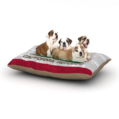 Bruce Stanfield California Flag Dog Pillow with Fleece Cozy Top Size: Large (50 W x 40 D x 8 H)