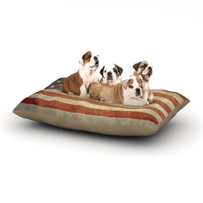 Bruce Stanfield Flag of US Retro Rustic Dog Pillow with Fleece Cozy Top Size: Small (40 W x 30 D x 8 H)