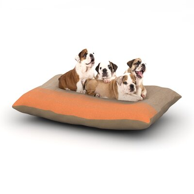 Brittany Guarino Art Wood Dog Pillow with Fleece Cozy Top Size: Small (40 W x 30 D x 8 H), Color: Orange/Tangerine