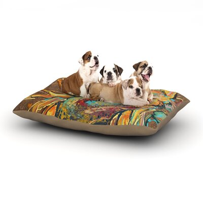 Brienne Jepkema Sunflower Flower Dog Pillow with Fleece Cozy Top Size: Small (40 W x 30 D x 8 H)