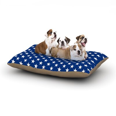 Bruce Stanfield Red Star Dog Pillow with Fleece Cozy Top Size: Large (50 W x 40 D x 8 H)