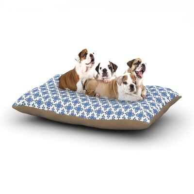 Carolyn Greifeld Bohemian Blues III Dog Pillow with Fleece Cozy Top Size: Large (50 W x 40 D x 8 H)