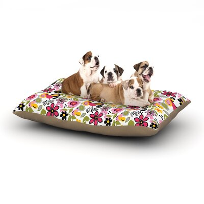 Carolyn Greifeld Pretty Florals Dog Pillow with Fleece Cozy Top Size: Small (40 W x 30 D x 8 H)