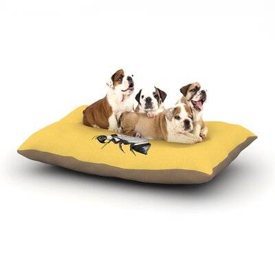Catherine Holcombe Queen Bee Canary Dog Pillow with Fleece Cozy Top Size: Small (40 W x 30 D x 8 H)