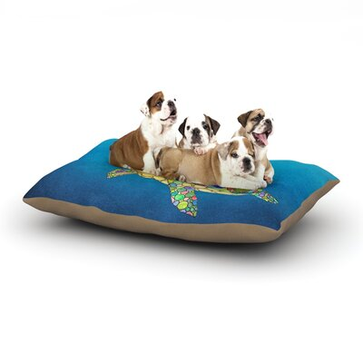 Catherine Holcombe Bubbles Turtle Dog Pillow with Fleece Cozy Top Size: Small (40 W x 30 D x 8 H)
