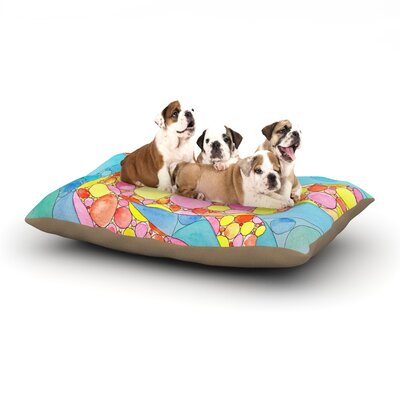 Catherine Holcombe Circle Turtle Dog Pillow with Fleece Cozy Top Size: Small (40 W x 30 D x 8 H)