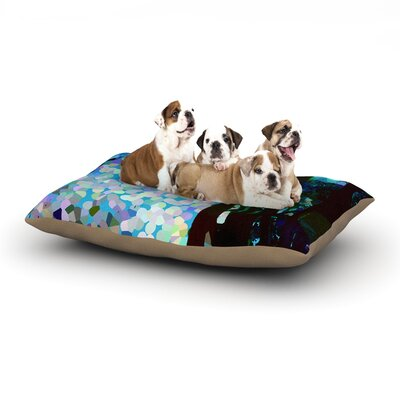Catherine Holcombe Blue Raspberry Jellybean Geometric Dog Pillow with Fleece Cozy Top Size: Small (40 W x 30 D x 8 H)