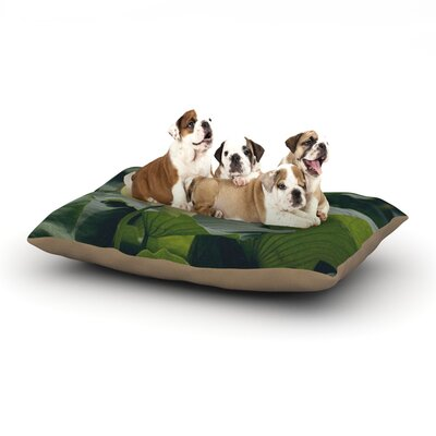 Catherine McDonald 'White Lotus' Dog Pillow with Fleece Cozy Top Size: Small (40