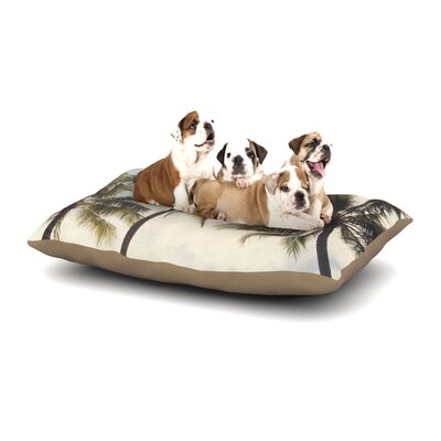 Catherine McDonald Boho Palms Coastal Trees Dog Pillow with Fleece Cozy Top Size: Small (40 W x 30 D x 8 H)