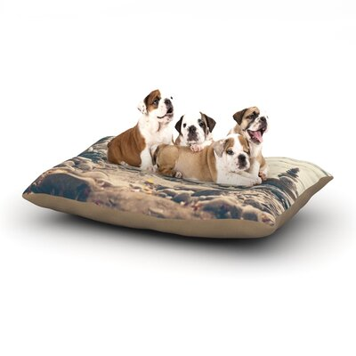Catherine McDonald 'River Cairns' Dog Pillow with Fleece Cozy Top Size: Small (40
