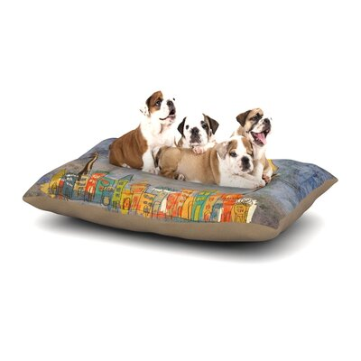 Carina Povarchik Lechuzas Dog Pillow with Fleece Cozy Top Size: Large (50 W x 40 D x 8 H)