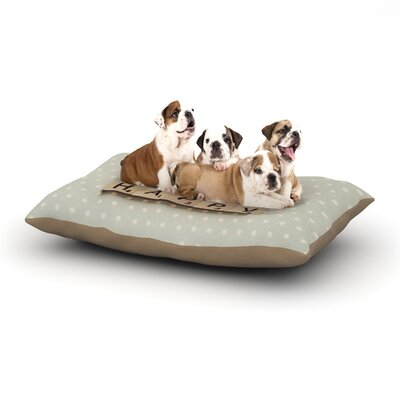 Cristina Mitchell Be Happy Dog Pillow with Fleece Cozy Top Size: Large (50 W x 40 D x 8 H)