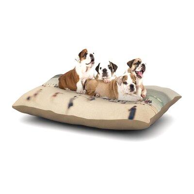Catherine McDonald Bondi Beach Coastal People Dog Pillow with Fleece Cozy Top Size: Large (50 W x 40 D x 8 H)