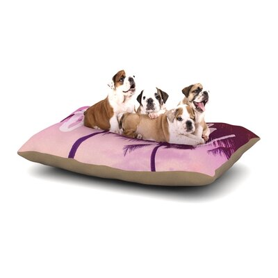 Catherine McDonald Fever Dog Pillow with Fleece Cozy Top Size: Large (50 W x 40 D x 8 H)