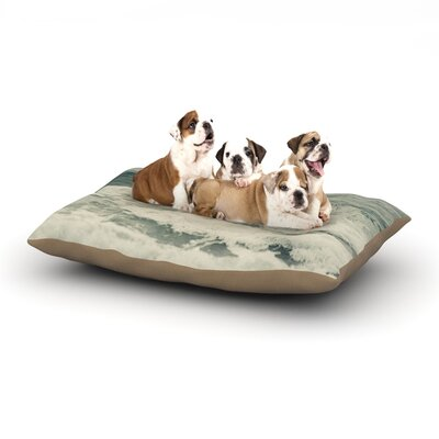 Cristina Mitchell Crashing Waves Ocean Dog Pillow with Fleece Cozy Top Size: Small (40 W x 30 D x 8 H)