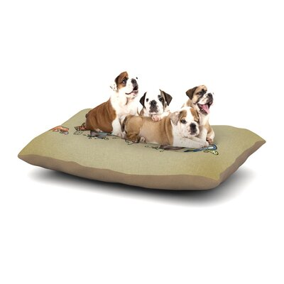Carina Povarchik Gnomes Dog Pillow with Fleece Cozy Top Size: Large (50 W x 40 D x 8 H)