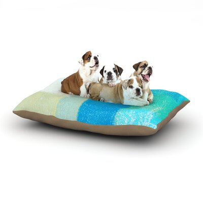 CarolLynn Tice Shallow Cools Dog Pillow with Fleece Cozy Top Size: Small (40 W x 30 D x 8 H)