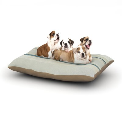 CarolLynn Tice Input Dog Pillow with Fleece Cozy Top Size: Large (50 W x 40 D x 8 H)