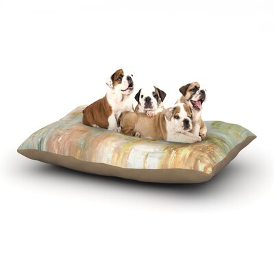 CarolLynn Tice Coffee Paint Dog Pillow with Fleece Cozy Top Size: Large (50 W x 40 D x 8 H)