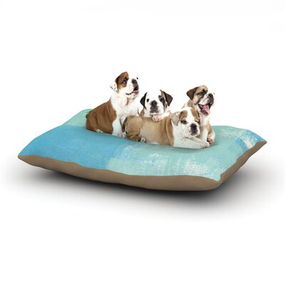 CarolLynn Tice Announced Dog Pillow with Fleece Cozy Top Size: Large (50 W x 40 D x 8 H)