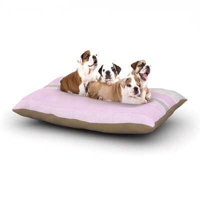 CarolLynn Tice Yogurt Dog Pillow with Fleece Cozy Top Size: Large (50 W x 40 D x 8 H)
