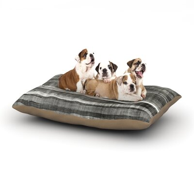 CarolLynn Tice Grey Accent Dark Neutral Dog Pillow with Fleece Cozy Top Size: Large (50 W x 40 D x 8 H)