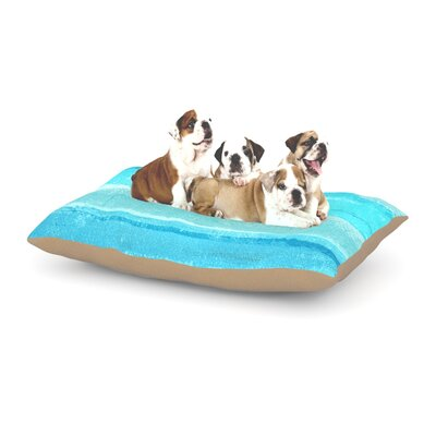 CarolLynn Tice Sand Bar Dog Pillow with Fleece Cozy Top Size: Large (50 W x 40 D x 8 H)