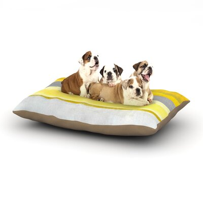 CarolLynn Tice Lemon Dog Pillow with Fleece Cozy Top Size: Large (50 W x 40 D x 8 H)