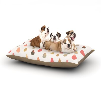 Daisy Beatrice Opal Drops Dog Pillow with Fleece Cozy Top Size: Small (40 W x 30 D x 8 H), Color: Duck/Peach/White