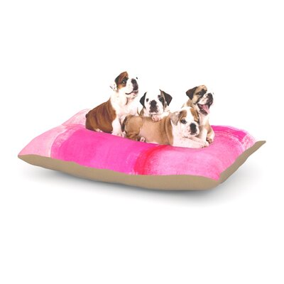 CarolLynn Tice Running Late Dog Pillow with Fleece Cozy Top Size: Large (50 W x 40 D x 8 H)