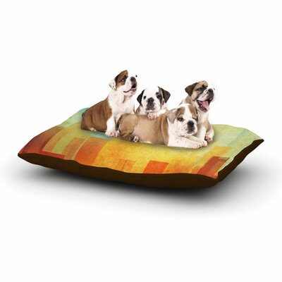 Cvetelina Todorova Urban Sunset Geometric Dog Pillow with Fleece Cozy Top Size: Small (40 W x 30 D x 8 H)