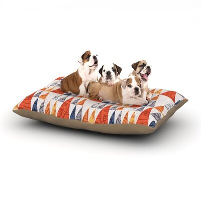Daisy Beatrice Tepee Town Dog Pillow with Fleece Cozy Top Size: Small (40 W x 30 D x 8 H)
